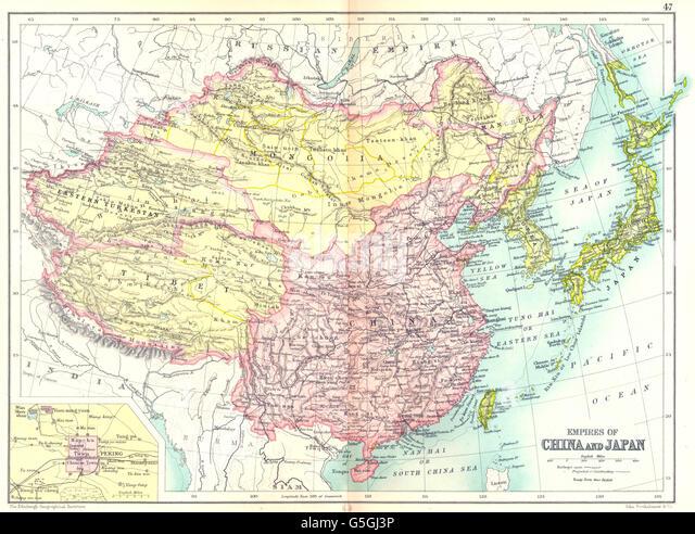 Manchuria And Japan Stock Photos Manchuria And Japan Stock - Japan map 1930