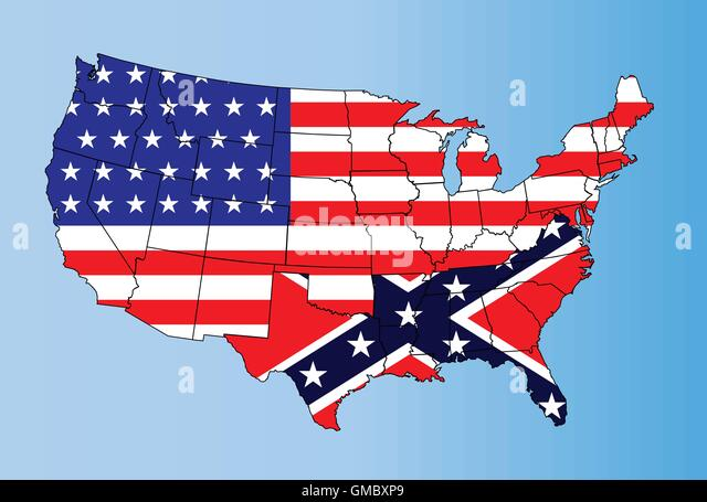 Confederate States Map Stock Photos Confederate States Map Stock - The confederate states us territories and united states map