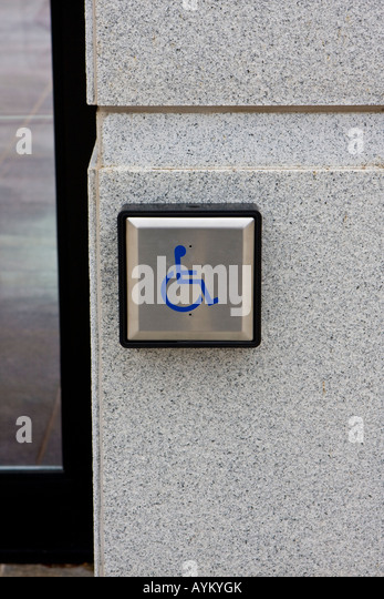 Automatic door disabled access stock photos