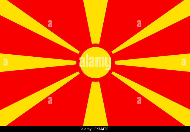 macedonian flag stock photos macedonian flag stock images alamy. Black Bedroom Furniture Sets. Home Design Ideas