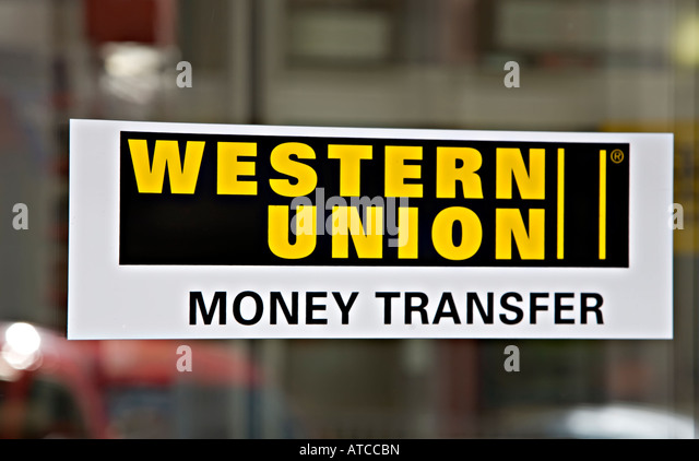 western union sign money transfer stock photos western union sign money transfer stock images. Black Bedroom Furniture Sets. Home Design Ideas