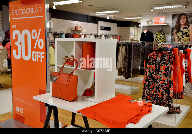 British Home Stores  BHS  Bristol Broadmead  UK  30 April  2016. British Home Stores Bhs Stock Photos   British Home Stores Bhs