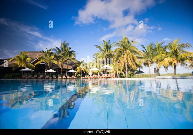 Mauritian house stock photos mauritian house stock for Swimming pool mauritius