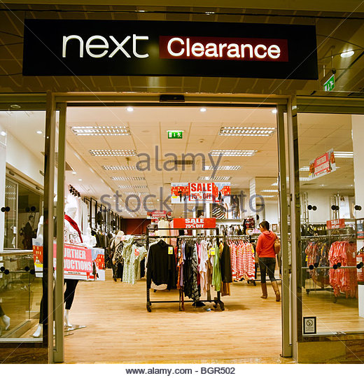 Designer Outlet Gloucester Quays: Next Clothing Storefront Fashion Stock Photos & Next