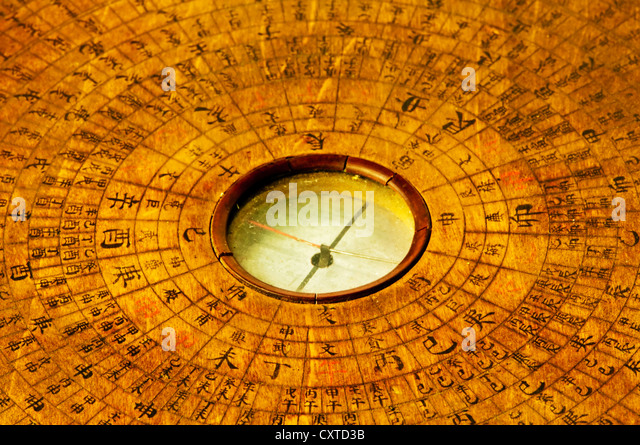 antique chinese fengshui compass luopan stock image chinese feng shui compass
