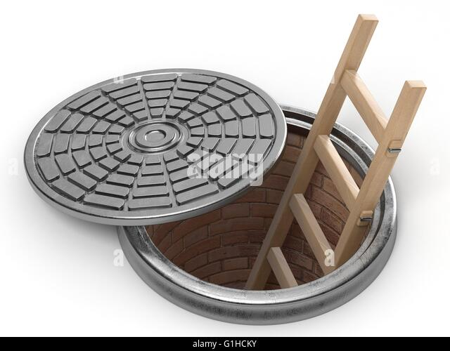 Wooden manhole cover stock photos