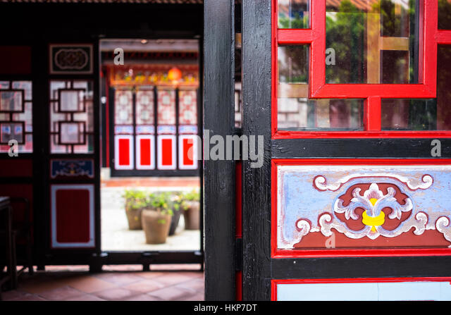 Traditional Chinese Building with Chinese Artwork on Doors - Stock Image & Antique Chinese Art Artwork Stock Photos \u0026 Antique Chinese Art ...