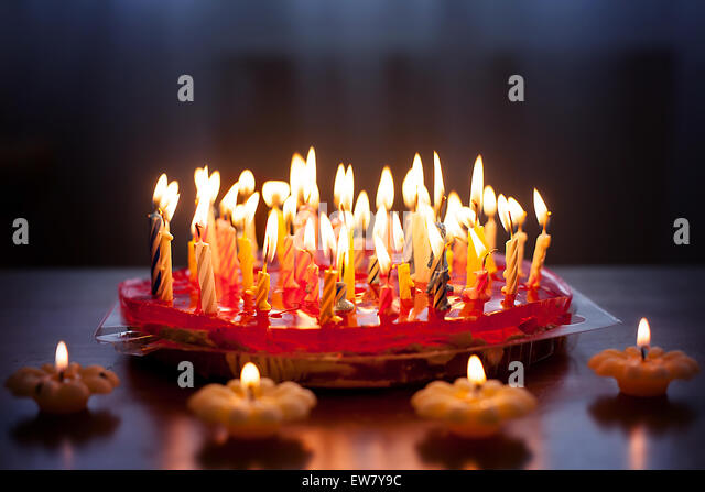 Cake Candles Lots Stock Photos & Cake Candles Lots Stock ...