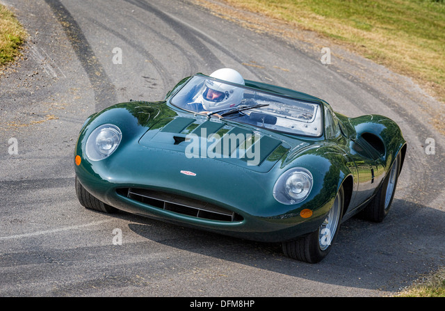 1965 jaguar xj13 with driver andy wallace at the 2013 goodwood festival of speed sussex
