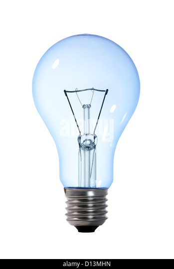 Blue light bulb on white stock photos blue light bulb on white stock images alamy Tungsten light bulbs