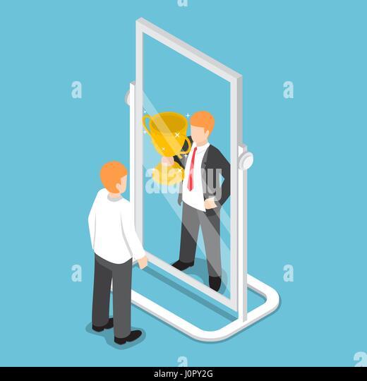 Reflection cartoon character stock photos reflection for Regarde toi dans un miroir