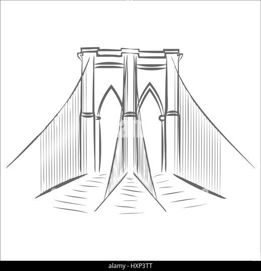 New York City Skyline Illustration Black and White Stock ...