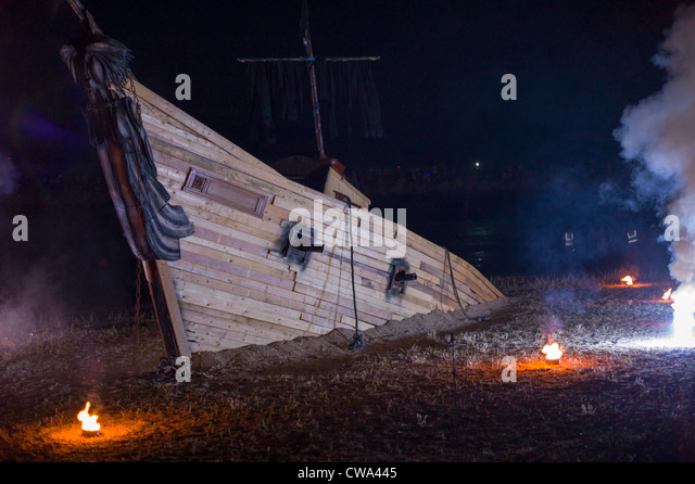 sailing ship fire smoke - photo #5