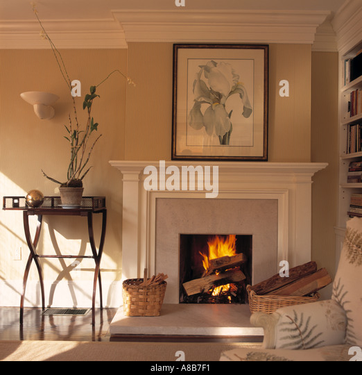 Large Painting Above Fireplace In Stock Photos & Large Painting ...