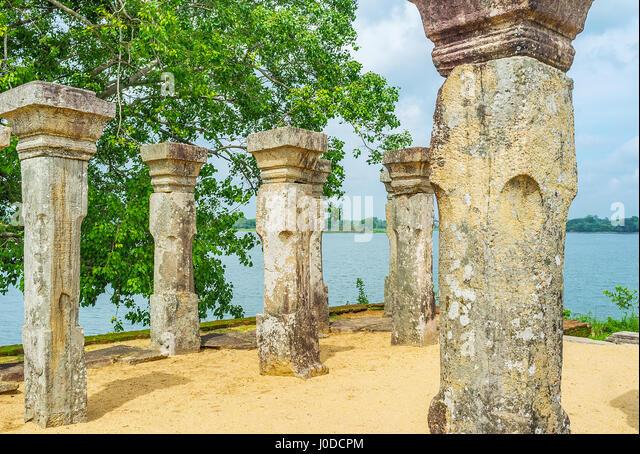 Ancient Stone Pillars : Uyana stock photos images alamy