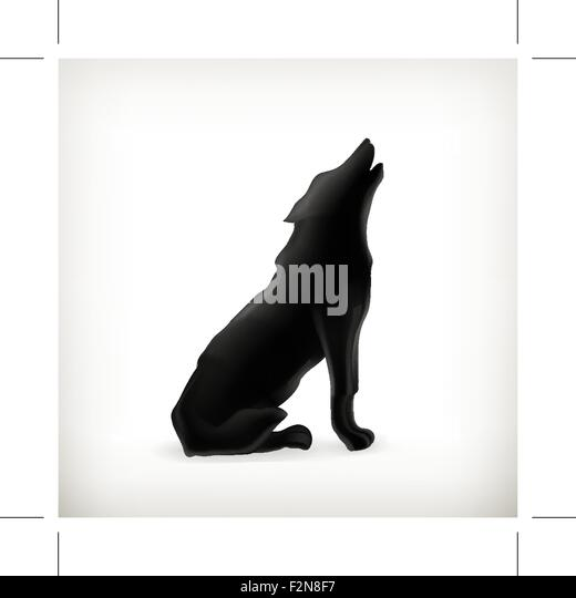 Howling Wolf Silhouette Sitting   www.pixshark.com ...