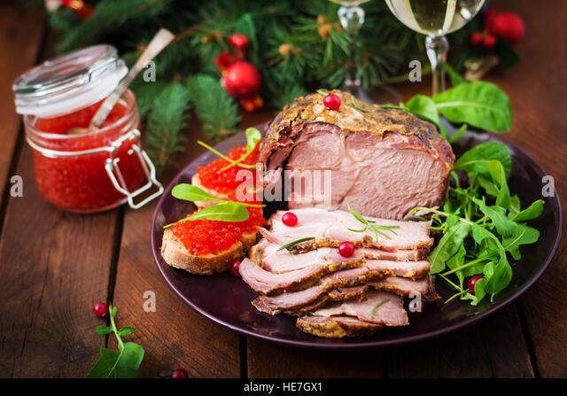 christmas ham dinner table - photo #46
