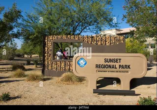 Sunset National Park Henderson Nevada USA - Stock Image