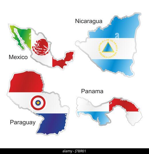 Panama Mexico Map.America Flag Paraguay Panama Map Nicaragua Atlas Map Of The World