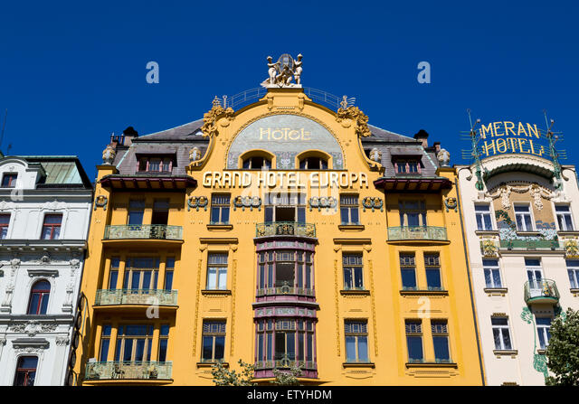 Grand hotel europa prague stock photos grand hotel for Europe hotel prague
