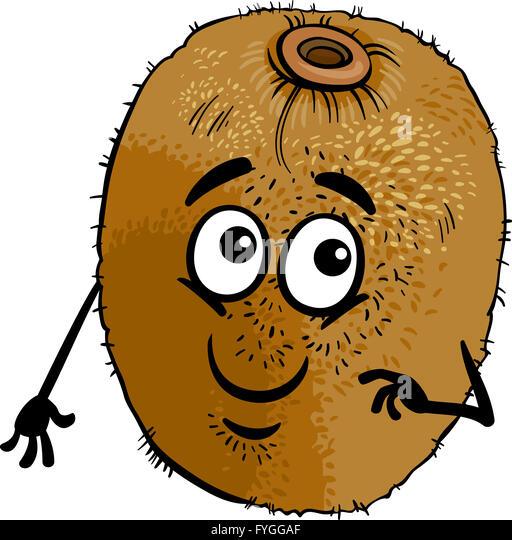 Kiwi fruit illustration fresh stock photos