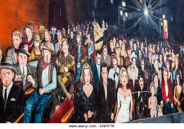 Hollywood star mural stock photos hollywood star mural for Celebrity mural