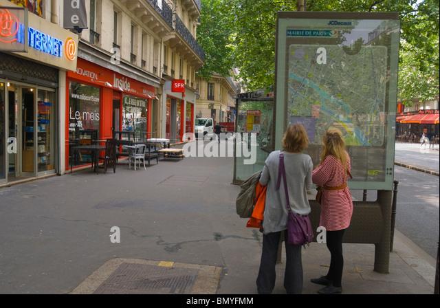 paris map district stock photos paris map district stock images alamy. Black Bedroom Furniture Sets. Home Design Ideas