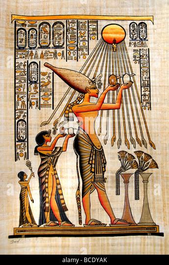 Egyptian Papyrus Painting Stock Photos & Egyptian Papyrus ...