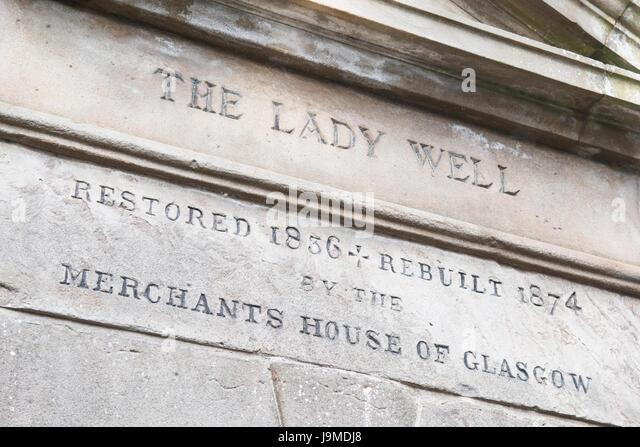 The Lady Well, Glasgow, Scotland, UK - Stock Image