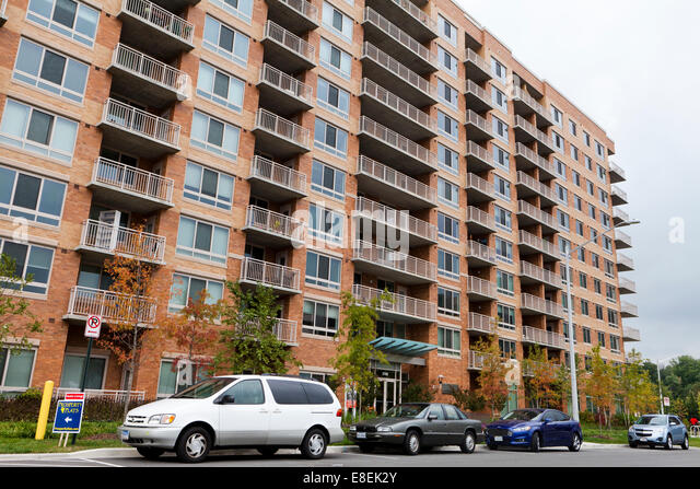 High Rise Apartment Building   Merrifield, Virginia USA   Stock Image