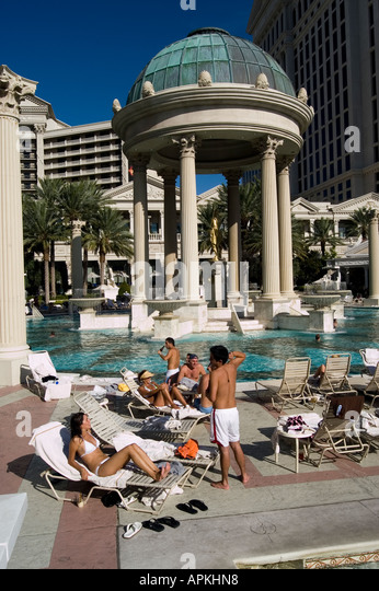 Las vegas caesars palace pool stock photos las vegas for Caesars swimming pool