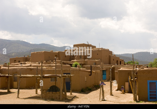 South pueblo taos stock photos south pueblo taos stock for Adobe construction pueblo co