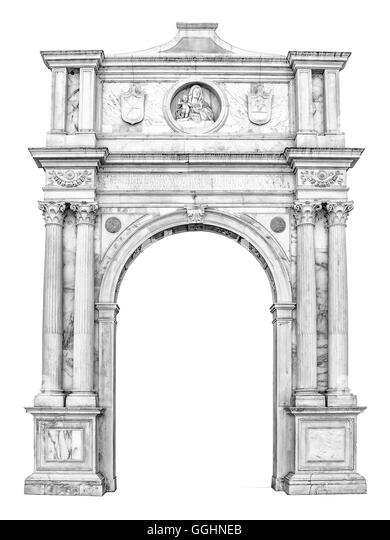 Marble Portal In Gothic Renaissance Style Usable As Frame Or Border