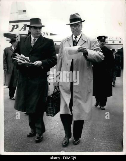 Apr 04 1955 Chairman Of U S Atomic Energy Commission Arrives Reads Embassy