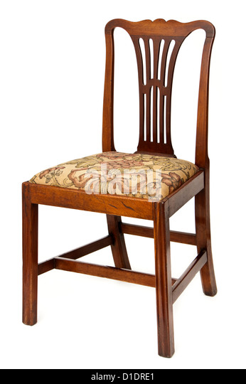 Antique Mahogany Upholstered Dining Chair