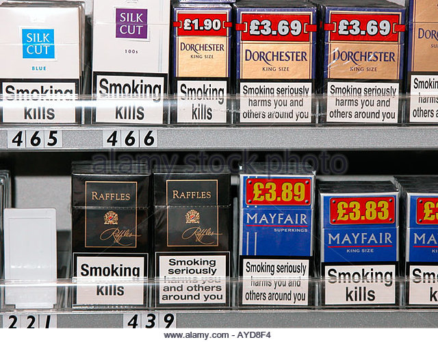 American Spirit cigarettes in United Kingdom