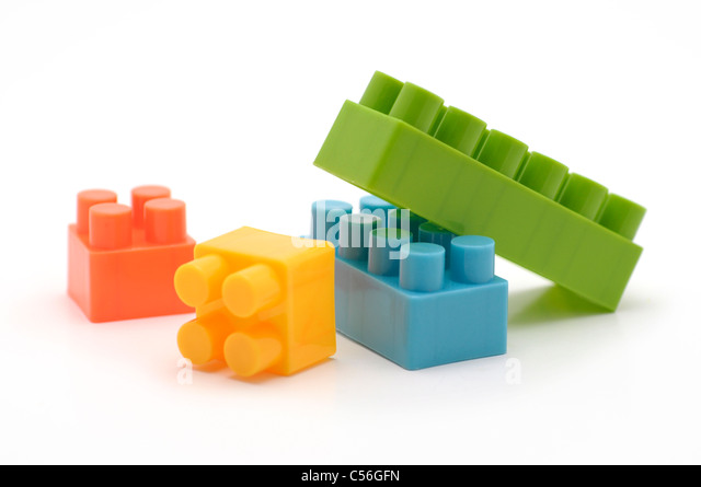 Building blocks stock photos building blocks stock for Plastic building blocks home construction