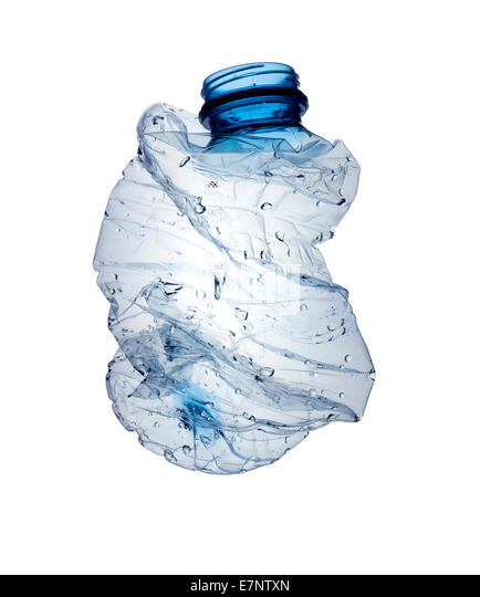 Crushed Empty Water Bottle
