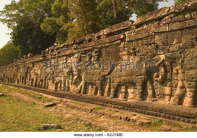 Elephant statue cambodia stock photos