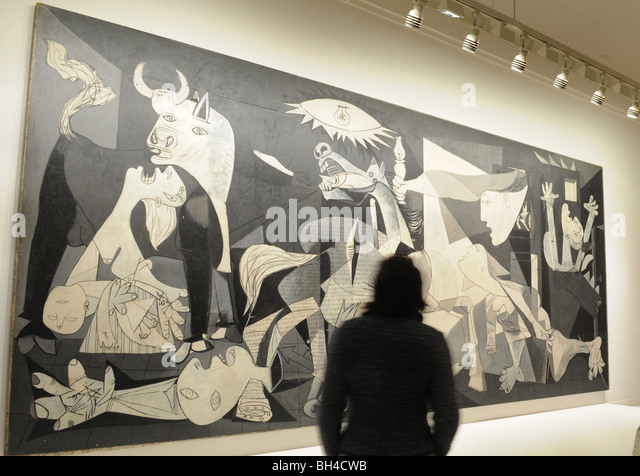 pablo picassos guernica essay [pablo picasso's] prolific output includes over 20000 paintings, prints, drawings, sculptures, ceramics, theater sets and costumes that convey myriad intellectual, political, social, and that culminated in the enormous mural guernica (1937 reina sofía national museum, madrid), painted in a grisaille palette of gray tones.