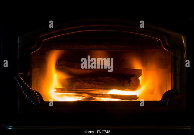 Wood Burning Fireplace Stock Photos & Wood Burning Fireplace Stock ...
