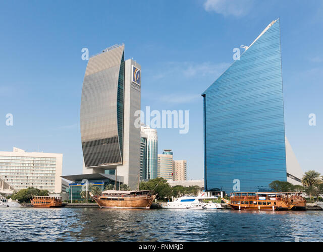Buildings Of The National Bank Of Dubai And The Chamber Of Commerce, DCCI,  In Amazing Pictures