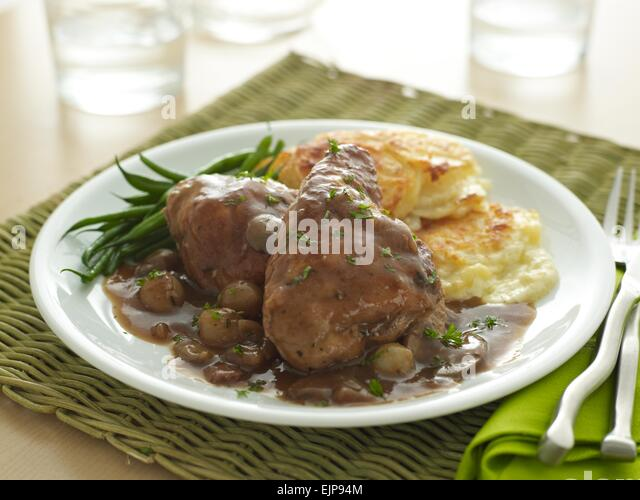 Served With French Beans Stock Photos & Served With French Beans Stock ...