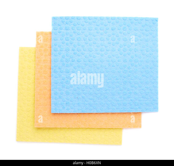 Beautiful Stack Of Kitchen Cleaning Napkin Rags Over White Isolated Background    Stock Image