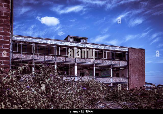 Concrete Building With Windows : Red brick windows stock photos