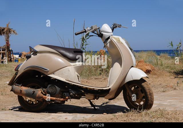 Greece Island Scooter Stock Photos Greece Island Scooter