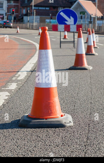 Traffic Cones Lane Closure Stock Photos & Traffic Cones ... Traffic Cone On Road