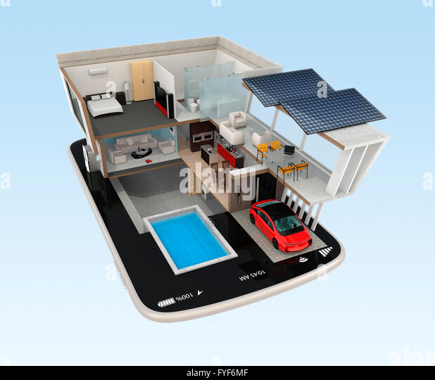 Smart House Phone smart home automation stock photos & smart home automation stock