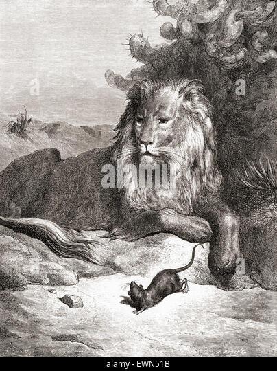Aesop lion stock photos aesop lion stock images alamy - Image le lion et le rat ...
