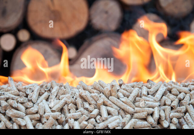 Burning Wood Biomass Pellets ~ Biomass wood pellets stock photos